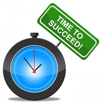 Free Stock Photo of Time To Succeed Represents Prevail Victors And Victor