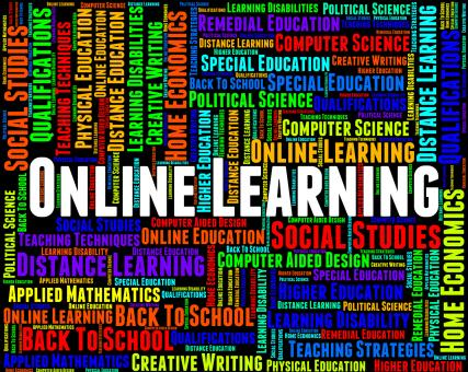Free Stock Photo of Online Learning Indicates World Wide Web And College