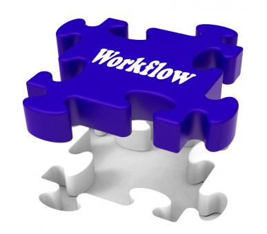 Free Stock Photo of Workflow Puzzle Shows Structure Flow Or Work Procedure