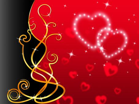 Free Stock Photo of Red Hearts Background Means Love Dear And Floral