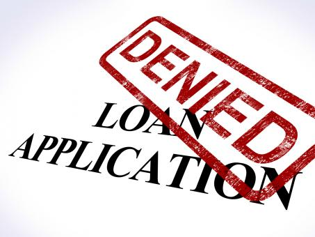 Free Stock Photo of Loan Application Denied Stamp Shows Credit Rejected