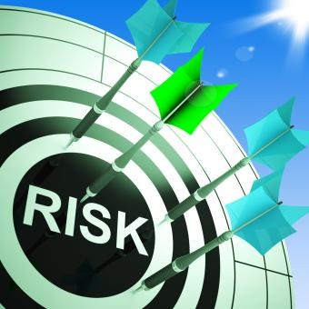 Free Stock Photo of Risk On Dartboard Showing Dangerous
