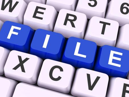 Free Stock Photo of File Keys Show Files Or Data Filing