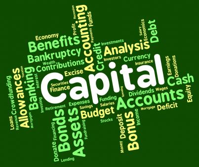 Free Stock Photo of Capital Word Shows Rich Asset And Affluence