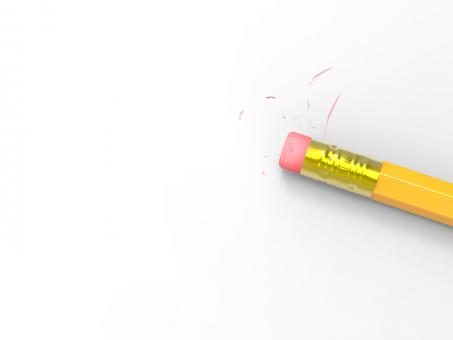 Free Stock Photo of Blank Paper With Pencil Eraser Shows Erased Text Copyspace