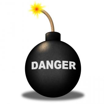 Free Stock Photo of Danger Alert Indicates Beware Explosion And Safety