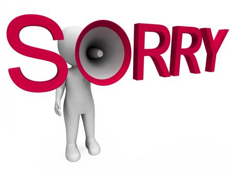 Free Stock Photo of Sorry Hailer Shows Apology Apologize And Regret
