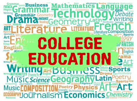 Free Stock Photo of College Education Indicates Schooling Learned And Courses