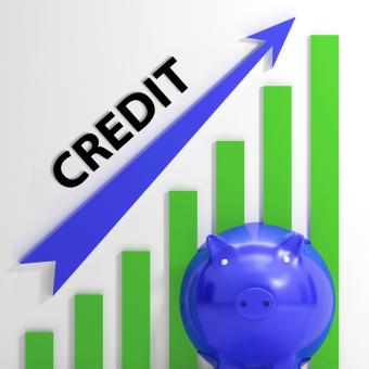 Free Stock Photo of Credit Graph Means Financing Lending And Repayments