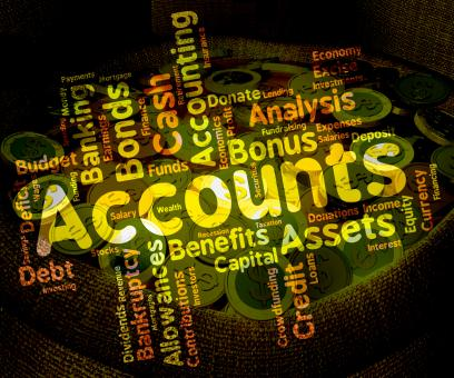 Free Stock Photo of Accounts Words Means Balancing The Books And Accounting