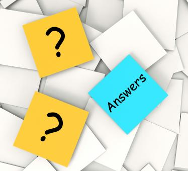 Free Stock Photo of Questions Answers Post-It Notes Show Questioning And Explanations