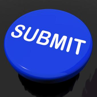 Free Stock Photo of Submit Button Shows Submitting Submission Or Application