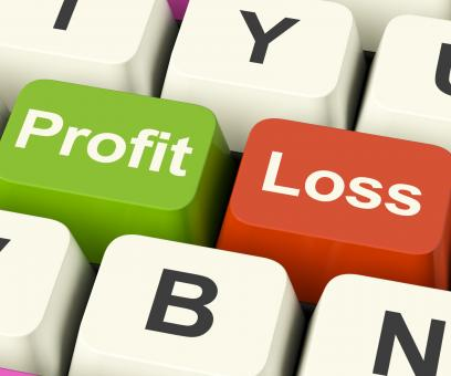 Free Stock Photo of Profit Or Loss Keys Showing Returns For Internet Business
