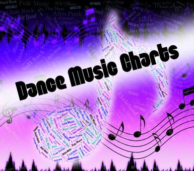 Free Stock Photo of Dance Music Charts Means Sound Tracks And Disco