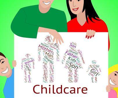 Free Stock Photo of Childcare Word Represents Looking After And Babysitting