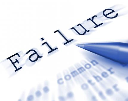 Free Stock Photo of Failure Word Displays Inept Unsuccessful Or Lacking