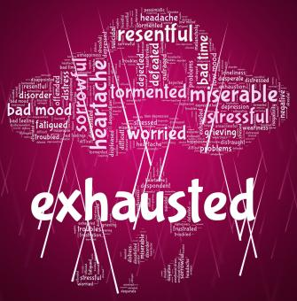Free Stock Photo of Exhausted Word Represents Tired Out And Drained