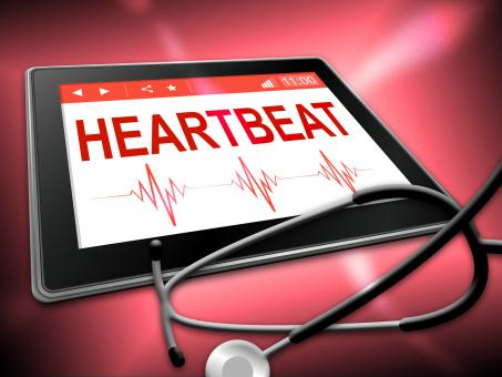Free Stock Photo of Heartbeat Tablet Means Pulse Trace And Cardiology