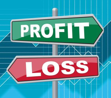 Free Stock Photo of Profit Loss Indicates Signboard Board And Money