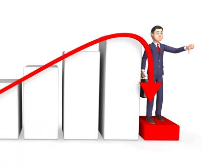 Free Stock Photo of Debt Businessman Shows Lack Of Success And Accounting 3d Rendering