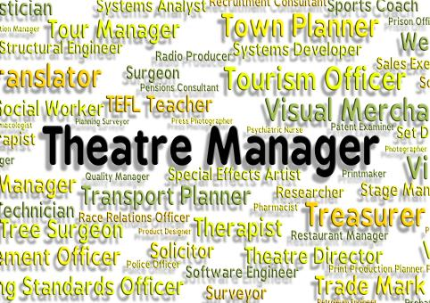 Free Stock Photo of Theatre Manager Shows Stage Work And Chief