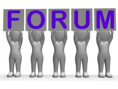 Free Stock Photo of Forum Banners Means Online Conversations And Communications