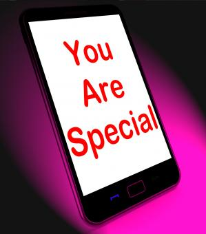 Free Stock Photo of You Are Special On Mobile Means Love Romance Or Idiot