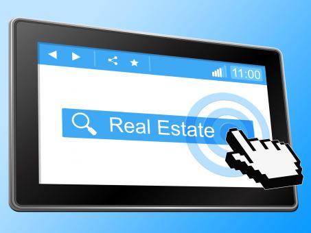 Free Stock Photo of Real Estate Means World Wide Web And Buy