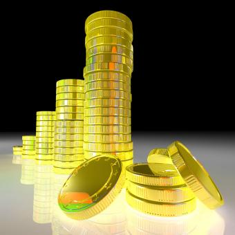 Free Stock Photo of Pile Of Coins Showing Successful Business