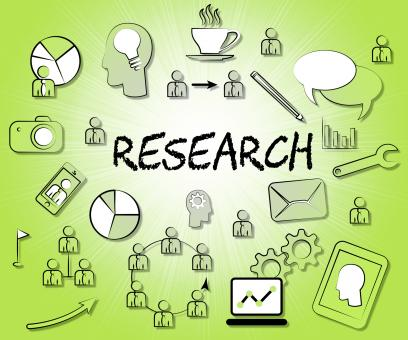 Free Stock Photo of Research Icons Indicates Gathering Data And Analyse