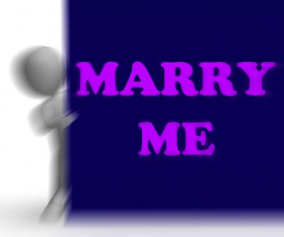 Free Stock Photo of Marry Me Placard Means Romance And Marriage