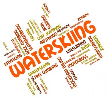Free Stock Photo of Waterskiing Word Indicates Watersport Watersports And Sport