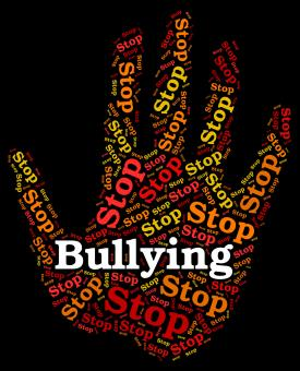 Free Stock Photo of Stop Bullying Indicates Push Around And Caution