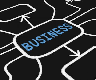 Free Stock Photo of Business Diagram Means Company Venture Or Commerce
