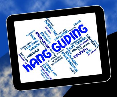 Free Stock Photo of Hang Gliding Means Hanggliders Words And Glide