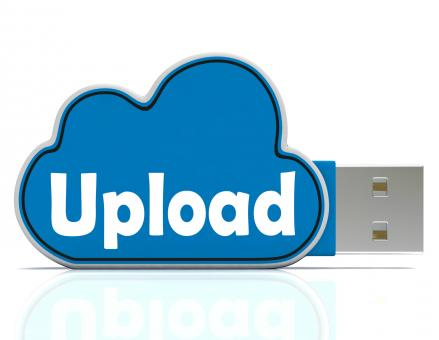 Free Stock Photo of Upload Cloud Pen drive Means Website Uploading And Data Transfer