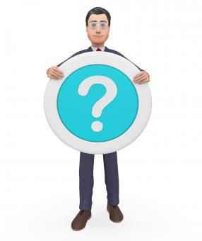 Free Stock Photo of Question Mark Represents Not Sure And Business 3d Rendering