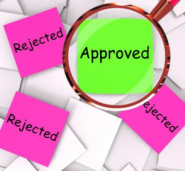 Free Stock Photo of Approved Rejected Post-It Papers Means Approval Or Rejection
