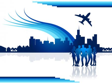 Free Stock Photo of City Flights Represents Transportation Aeroplane And Airplane