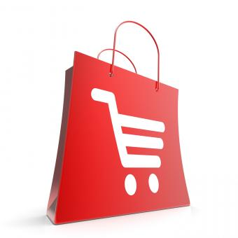 Free Stock Photo of Shopping Cart Bag Shows Basket Checkout