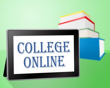 Free Stock Photo of College Online Indicates Web Site And Books