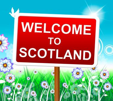 Free Stock Photo of Welcome To Scotland Represents Invitation Outdoor And Hello