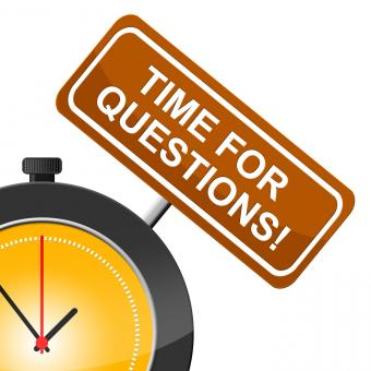Free Stock Photo of Time For Questions Shows Frequently Questioning And Help