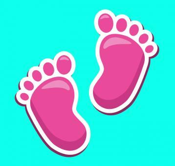Free Stock Photo of Baby Feet Represents Tiny Toes And Babies
