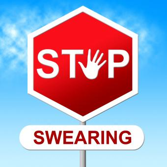 Free Stock Photo of Swearing Stop Indicates Bad Words And Control