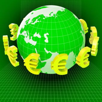 Free Stock Photo of Euros Forex Means Worldwide Trading And Earth