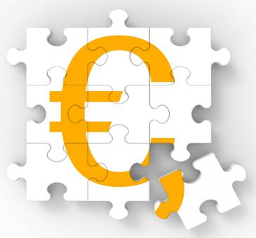 Free Stock Photo of Euro Puzzle Shows European Currency