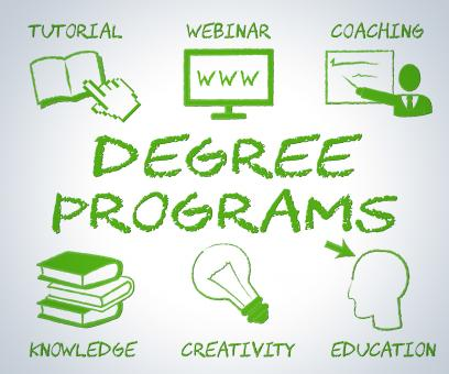 Free Stock Photo of Degree Programs Shows Web Site And Associates
