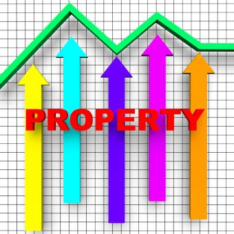 Free Stock Photo of Property Report Indicates Business Graph And House
