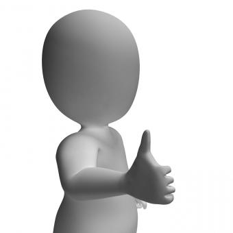 Free Stock Photo of Thumbs Up Showing Support Approval And Confirmation